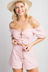 Sam Striped Romper