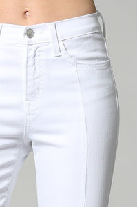 FINAL SALE Sandra Slit Crop Skinny-White