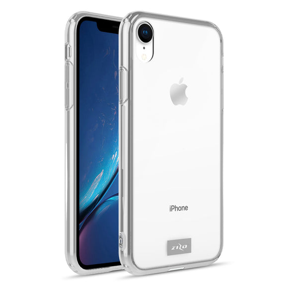 For iPhone XR Case - Refine Series by Zizo Slim Clear with PC Metallic Bumper (Clear)