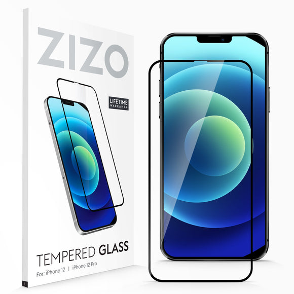 ZIZO TEMPERED GLASS Screen Protector for iPhone 12 / iPhone 12 Pro - Black