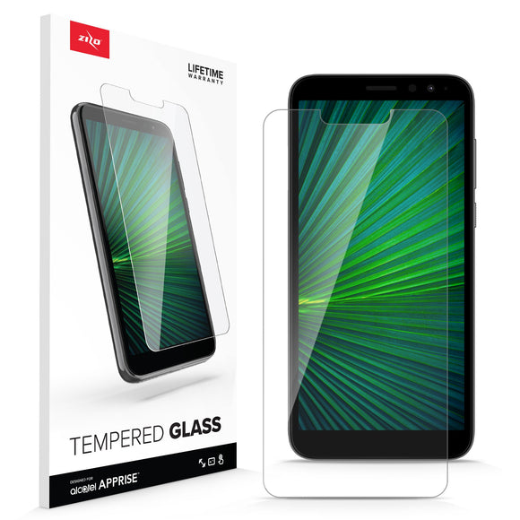 ZIZO TEMPERED GLASS Screen Protector for Alcatel Apprise - Clear