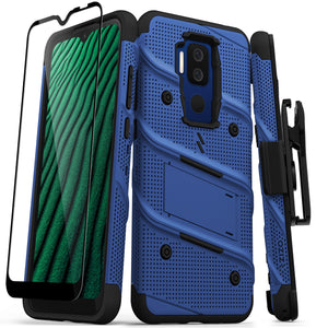 ZIZO BOLT Series Cricket Influence Case with Tempered Glass - Blue & Black