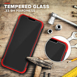 ZIZO BOLT Series iPhone 12 Pro Max Case with Tempered Glass - Black & Red