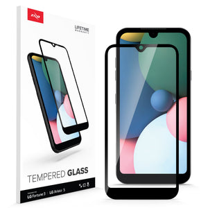 ZIZO TEMPERED GLASS Screen Protector for LG Fortune 3 - Black