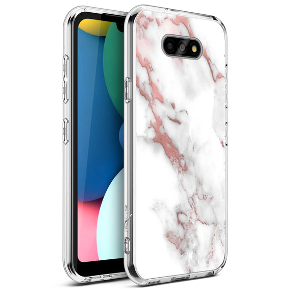 ZIZO REFINE Series LG Fortune 3 Case - Rose Gold Marble
