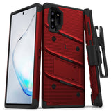 ZIZO BOLT Series Galaxy Note 10 Plus Case (Red/Black)