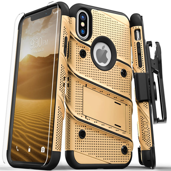 Zizo Bolt Series iPhone X / XS - Gold/Black