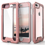 For iPhone 8 Plus / 7 Plus / 6 Plus - Zizo ION Case Single Layered Hybrid with Tempered Glass Screen Protector