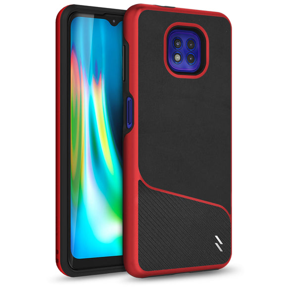 ZIZO DIVISION Series Moto G Power (2021) Case - Black & Red