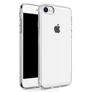 For iPhone 8 / 7 Case - Refine Series by Zizo Slim Clear Case with PC Metallic Bumper