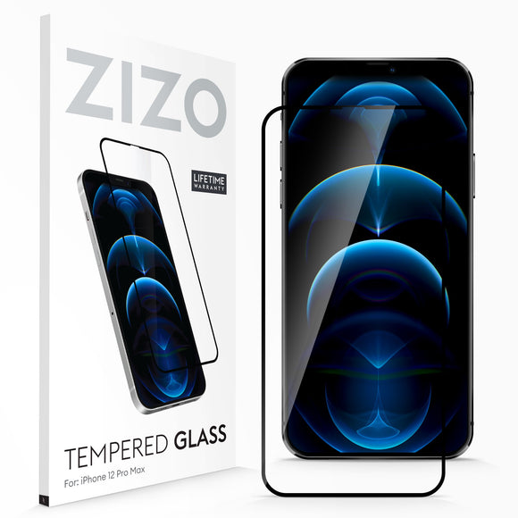 ZIZO TEMPERED GLASS Screen Protector for iPhone 12 Pro Max - Black