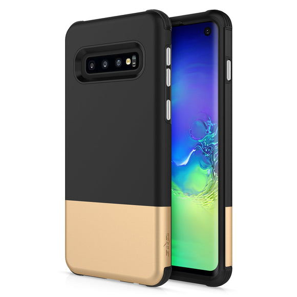 For Samsung Galaxy S10 - Division Case with Dual Layered and Shockproof Protection Black Gold