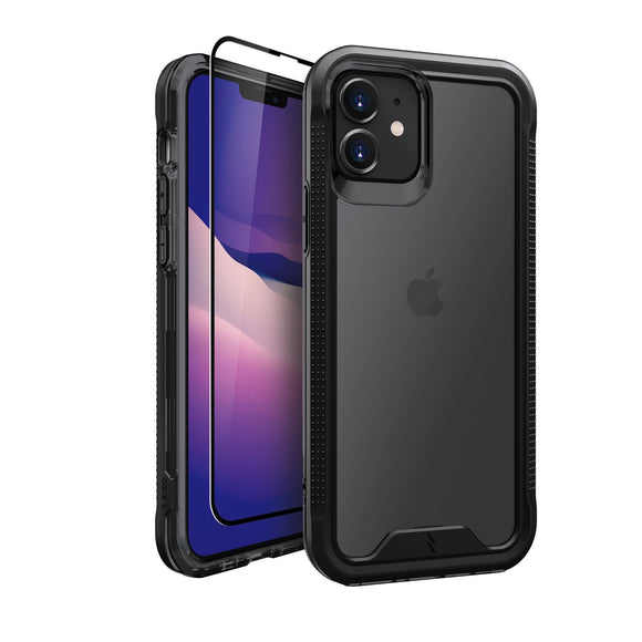 ZIZO ION Series iPhone 12 / iPhone 12 Pro Case with Tempered Glass - Black & Smoke