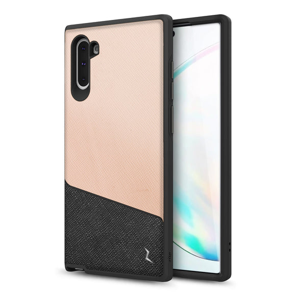 ZIZO DIVISION Samsung Galaxy Note 10 Case - Dual Layered and Shockproof Protection (Saffiano Blush)