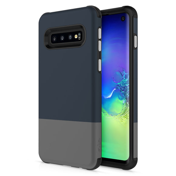 For Samsung Galaxy S10 - Division Case with Dual Layered and Shockproof Protection Blue Gray