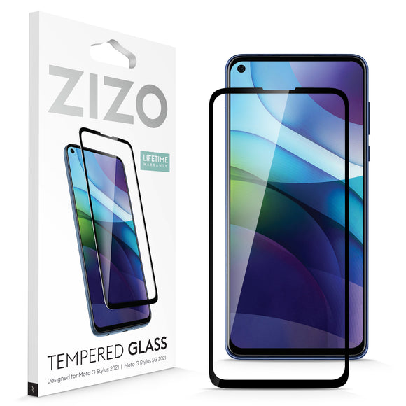 ZIZO TEMPERED GLASS Screen Protector for Moto G Stylus (2021) - Black