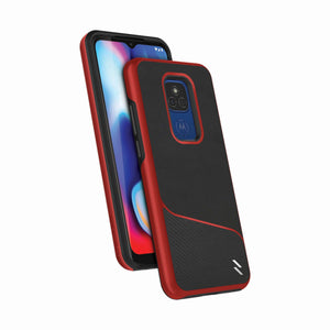 ZIZO DIVISION Series Moto G Play (2021) Case - Black & Red
