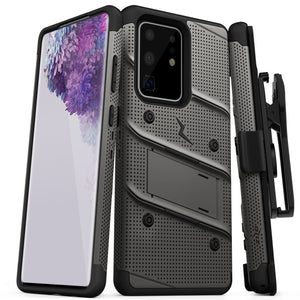 ZIZO BOLT Series Galaxy S20 Ultra Case - Gun Metal Gray & Black