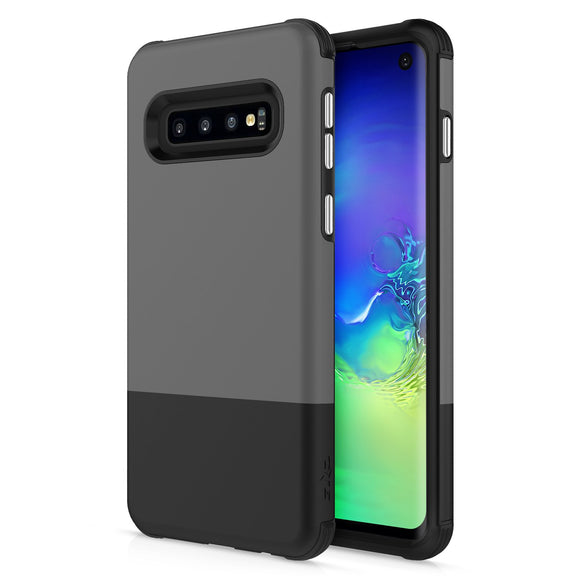 For Samsung Galaxy S10 - Division Case with Dual Layered and Shockproof Protection Gray Black