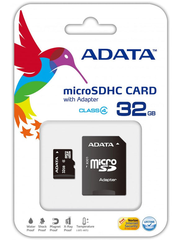 ADATA Micro SDHC Card w/ Adapter - 32GB Memory Card