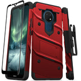 ZIZO BOLT Series Nokia C5 Endi Case - Red & Black