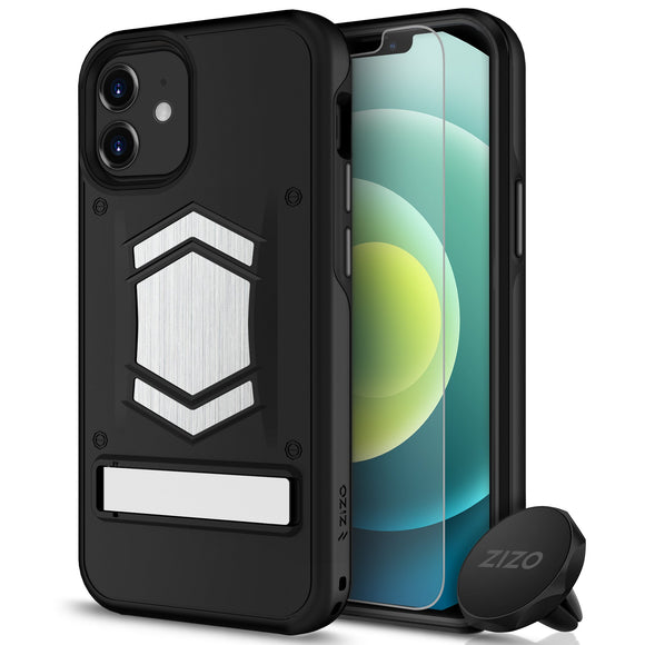 ZIZO ELECTRO Series iPhone 12 Mini Case with Tempered Glass - Black