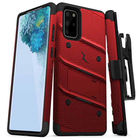 ZIZO BOLT Series Galaxy S20+ Case - Red & Black