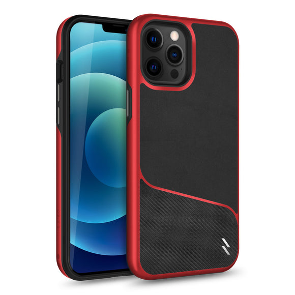 ZIZO DIVISION Series iPhone 12 / iPhone 12 Pro Case - Black & Red