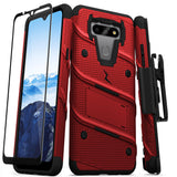 ZIZO BOLT Series LG Fortune 3 Case - Red & Black