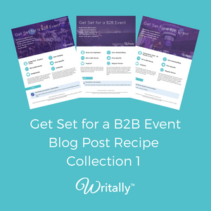 Pack of 3 Get Set for an Event Blog Post Templates - for B2B Customers