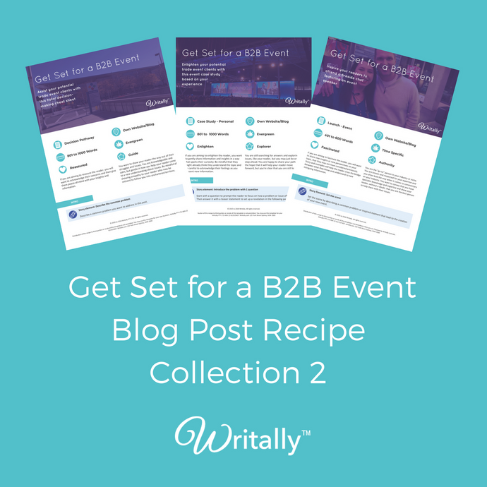 Pack of 3 Get Set for an Event Blog Post Templates - for B2B Customers 2