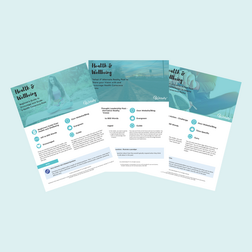 Pack of 3 Health and Wellbeing Business Blog Post Templates - Health Conscious Moms