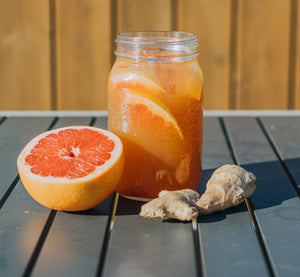 RECEIPE - Grapefruit, ginger & yerba mate limonade