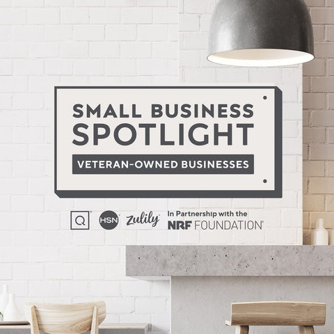 QVC HSN Zulily and NRF Foundation honors USMC Veteran Owned Etherton Hardwoods with Small Business Spotlight. Home of the World Famous Wooden American Flags