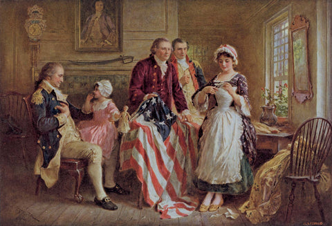 Betsy Ross Wooden American Flag History of the Old Glory 1776 First Flag Etherton Hardwoods
