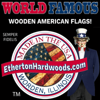 Hand Carved Rustic Wooden American Flags made by usmc veterans in the usa