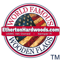 World Famous Wooden American Flags made in the USA by USMC Veterans at Etherton Hardwoods. Same Day Shipping