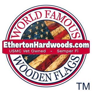 World Famous Wooden American Flags made in the USA by USMC Veterans at Etherton Hardwoods. Same Day Shipping!