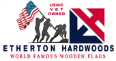 World Famous Wooden American Flags Made by USMC Veterans at Etherton Hardwoods USA Made Rustic Wall Artwork