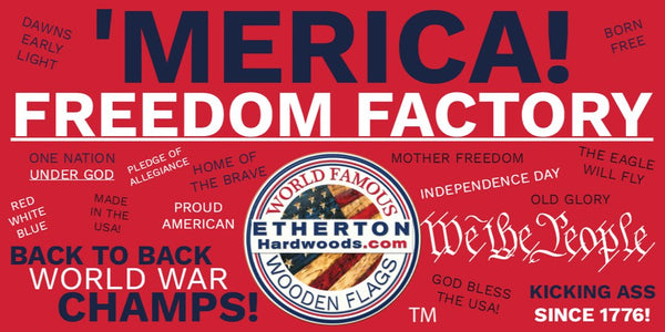 Etherton Hardwoods makes Flags of Valor Wooden American Rustic Wall Art Veteran Owned Business