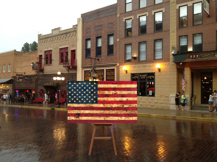 The World Best Wooden American Flag Buy from Veteran Owned Business at Etherton Hardwoods in Worden IL Made in the USA