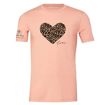 Cheetah Print Heart Love Patriotic T-Shirts Battlefield Freedom