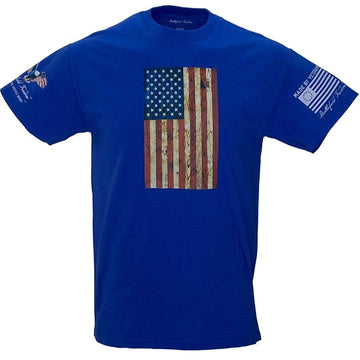 Vertical Wooden American Flag T-Shirt