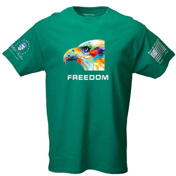 Freedom Colorful Eagle - Patriotic T-Shirt - Made in USA - Veteran Made