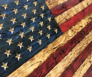 "4XL HUGE 75"" x 45"" Wooden American Flag by Etherton Hardwoods because bigger is better!"