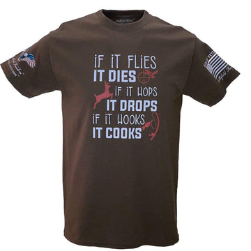 If It Flies It Dies - Patriotic Military T-Shirts - Made by Veterans