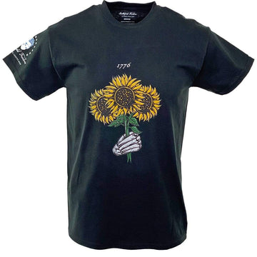 1776 Sunflower Skeleton Graphic T-Shirt