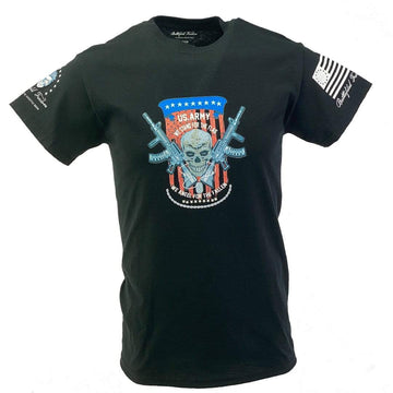 USA Army Stand for the Flag and Kneel for the Fallen Graphic Tee