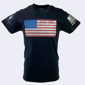 We the People American Flag Patriotic T-Shirt Military Apparel Battlefield Freedom Veteran Owned