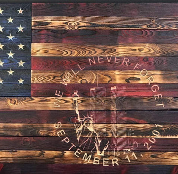 "(2XL) 50"" x 30"" (signature series) American Flag - 9/11 Tribute Limited Edition"